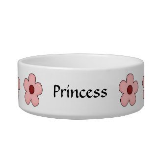Cat Best Friend Garden - Pink Flowers Cat Bowls
