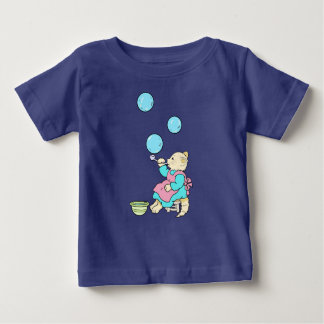 Cat Blowing Bubbles From Tube - Cartoons Baby T-Shirt