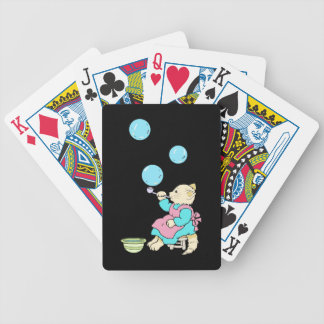 Cat Blowing Bubbles From Tube - Cartoons Bicycle Playing Cards