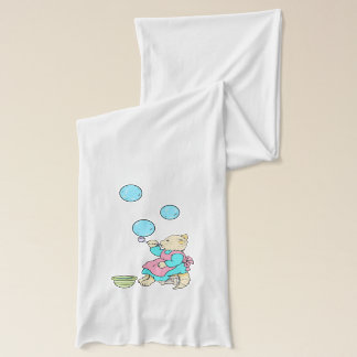 Cat Blowing Bubbles On Jersey Scarf