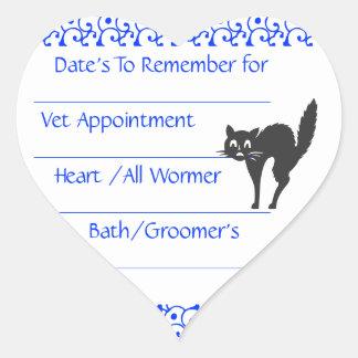 Cat Blue Reminder Stickers