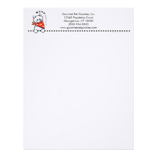 Cat Bone Appetit! Gourmet Pet Foods Business Letterhead Design