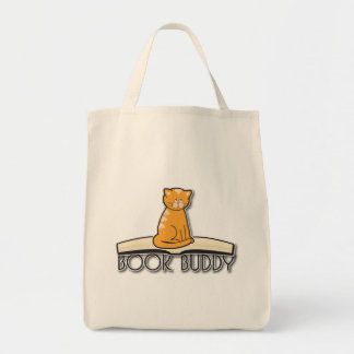 Cat Book Buddy Tote Bag