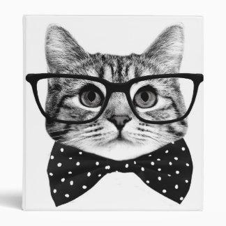 cat bow tie - Glasses cat - glass cat Binder