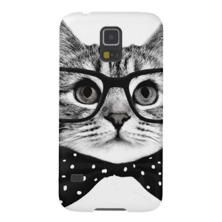 cat bow tie - Glasses cat - glass cat Case For Galaxy S5