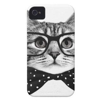 cat bow tie - Glasses cat - glass cat Case-Mate iPhone 4 Case