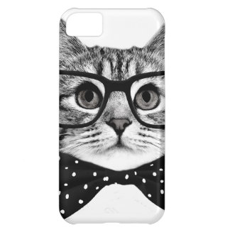 cat bow tie - Glasses cat - glass cat Cover For iPhone 5C