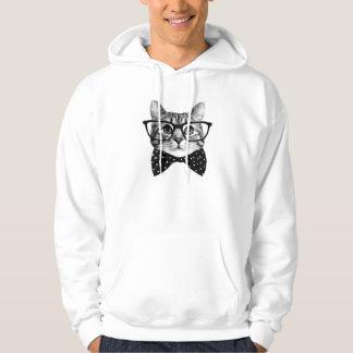 cat bow tie - Glasses cat - glass cat Hoodie