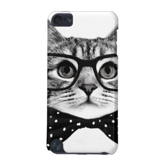 cat bow tie - Glasses cat - glass cat iPod Touch (5th Generation) Cover