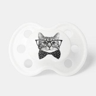 cat bow tie - Glasses cat - glass cat Pacifier