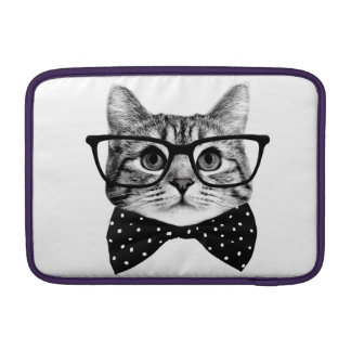cat bow tie - Glasses cat - glass cat Sleeve For MacBook Air