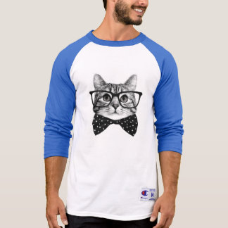 cat bow tie - Glasses cat - glass cat T-Shirt