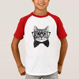 cat bow tie - Glasses cat - glass cat T-Shirt