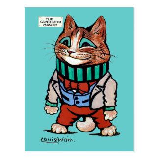 Cat boy, Louis Wain Postcard