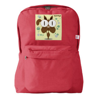 Cat(Brown) Backpack, Red Backpack