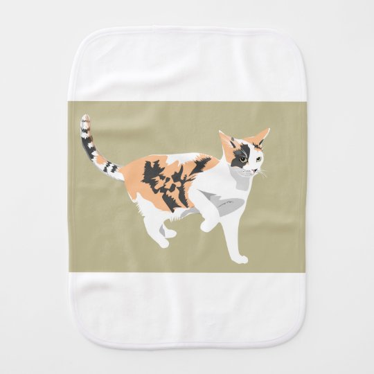 Cat Burp Cloth