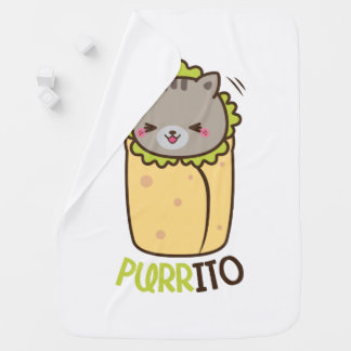 Cat & Burrito Purritp Baby Blanket
