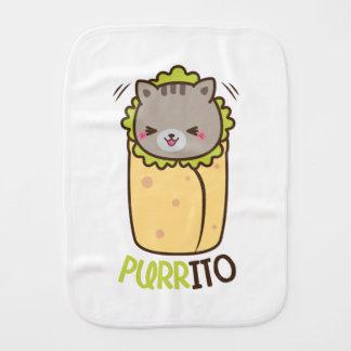 Cat & Burrito Purritp Burp Cloth