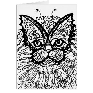 Cat butterfly card