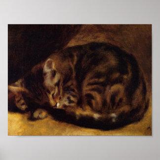 Cat by Renoir Poster