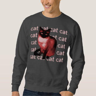 cat cat cat cat sweatshirt