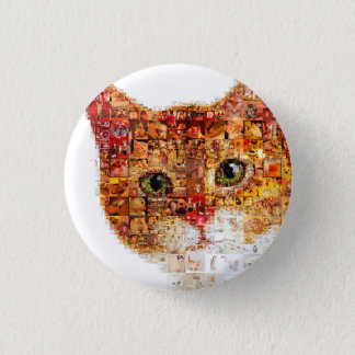 Cat - cat collage 1 inch round button
