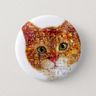 Cat - cat collage 2 inch round button
