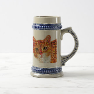 Cat - cat collage beer stein
