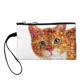 Cat - cat collage coin purse