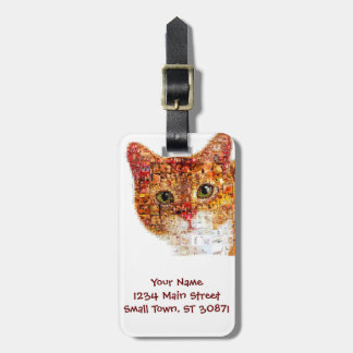 Cat - cat collage luggage tag