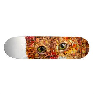 Cat - cat collage skateboard deck