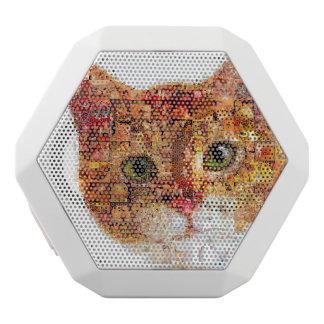 Cat - cat collage white bluetooth speaker