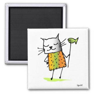 Cat Cat Magnet