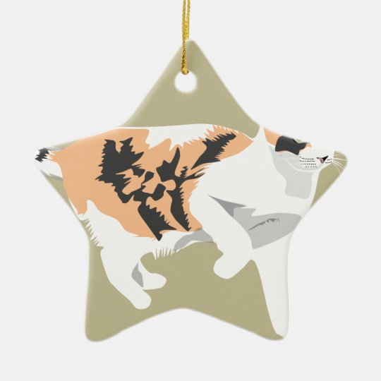 Cat Ceramic Ornament