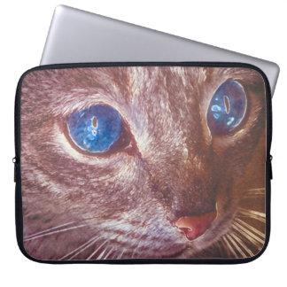 cat chalk pastel sleeve computer sleeve