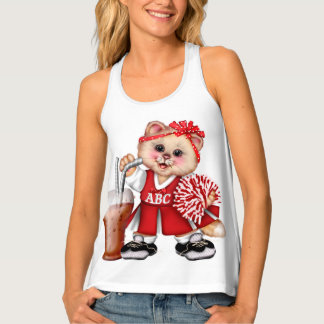 CAT CHEERLEADER2  AllOver Print Racerback Tank Top