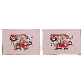 CAT CHEERLEADER 2 Pair Standard Size Pillowcases Pillowcase