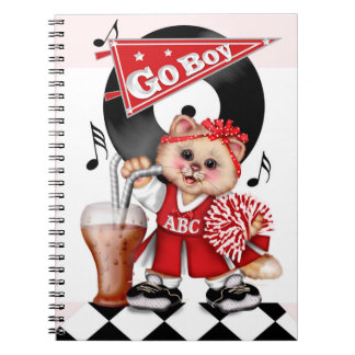 CAT CHEERLEADER 2 Photo Notebook (80 Pages B&W)