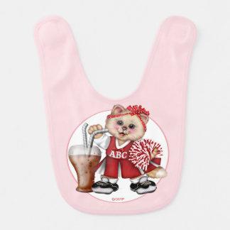 CAT CHEERLEADER CUTE Baby Bib 2