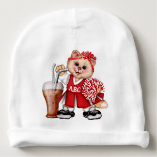 CAT CHEERLEADER CUTE Baby Cotton Beanie Baby Beanie