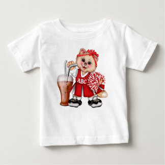 CAT CHEERLEADER CUTE Baby Fine Jersey T-Shirt