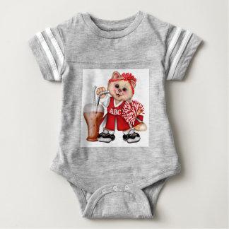 CAT CHEERLEADER CUTE Baby Football Bodysuit