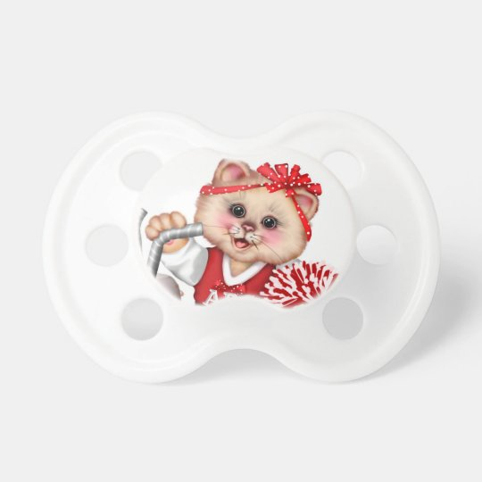 CAT CHEERLEADER CUTE BooginHead® Custom Pacifier