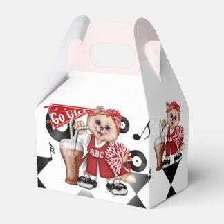 CAT CHEERLEADER CUTE Gable Favor Box 2