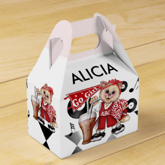 CAT CHEERLEADER CUTE Gable Favor Box 3
