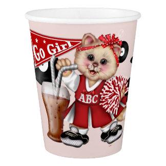 CAT CHEERLEADER CUTE PAPER CUP 2
