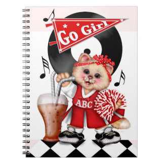 CAT CHEERLEADER CUTE Photo Notebook (80 Pages B&W)