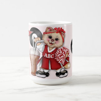 CAT CHEERLEADER GO GIRL 15 oz Classic White Mug