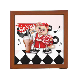 CAT CHEERLEADER LOVE Desk Organizer 2