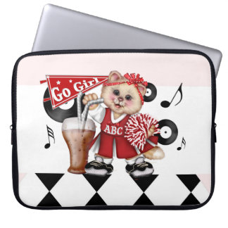 CAT CHEERLEDER CUTE Electronics Bag 15 inch""